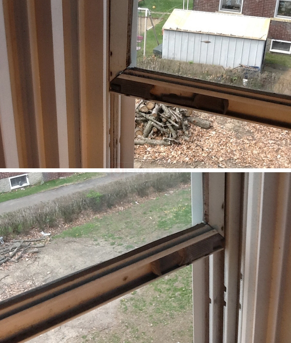 User submitted photos of a storm window latch.