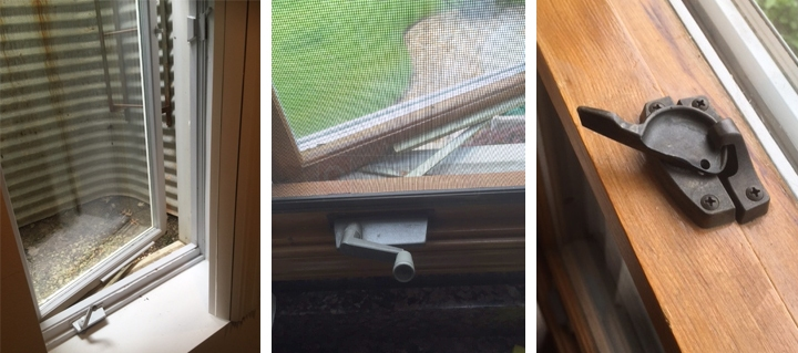 User submitted photos of a window operator & lock.