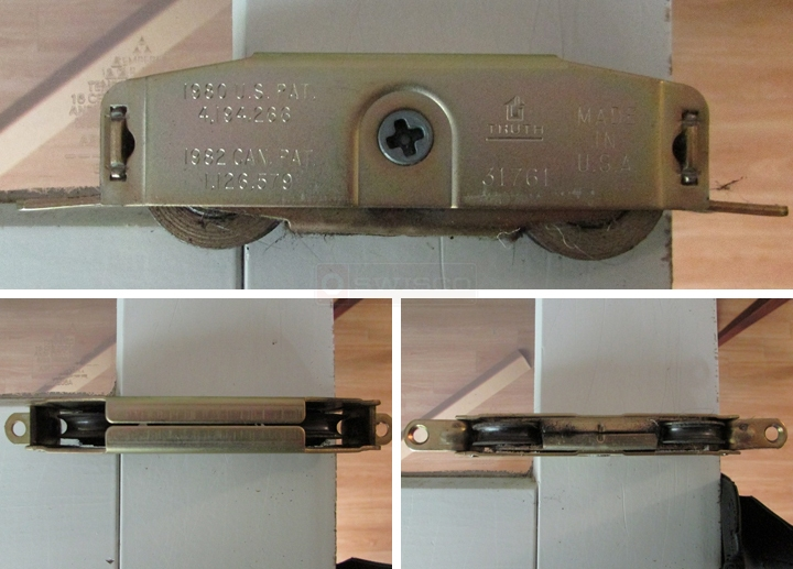 User submitted photos of patio door rollers.