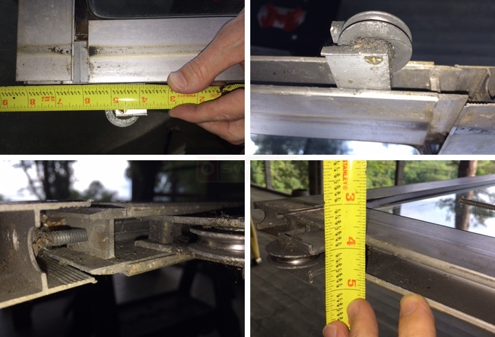User submitted photos of a patio door roller.