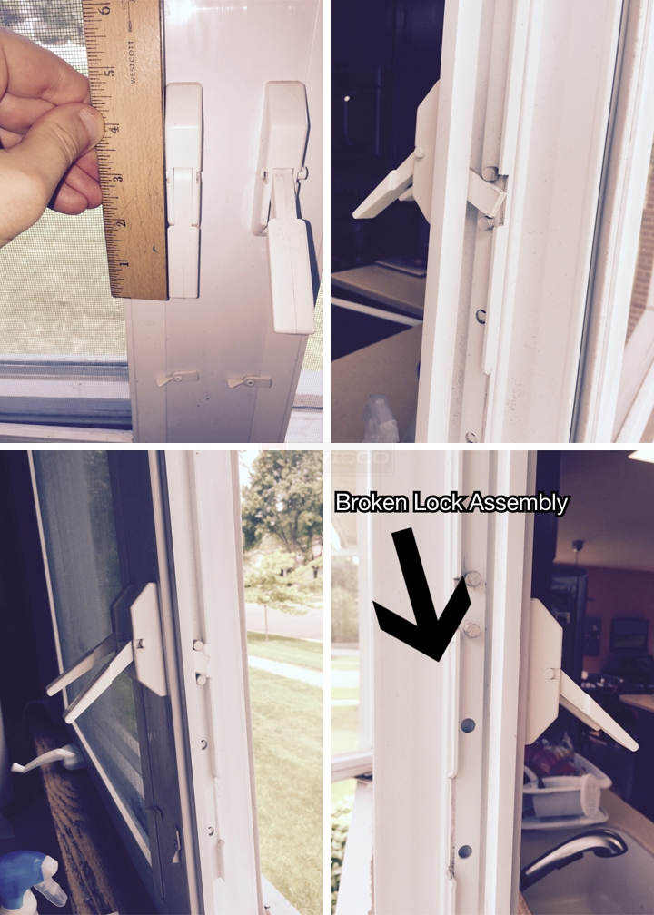 User submitted photos of window locks.