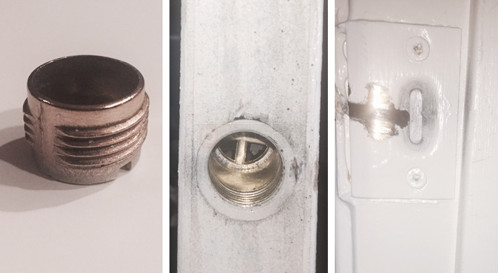 User submitted photos of closet door hardware. & Closet Door Ball Catch : SWISCO.com Pezcame.Com