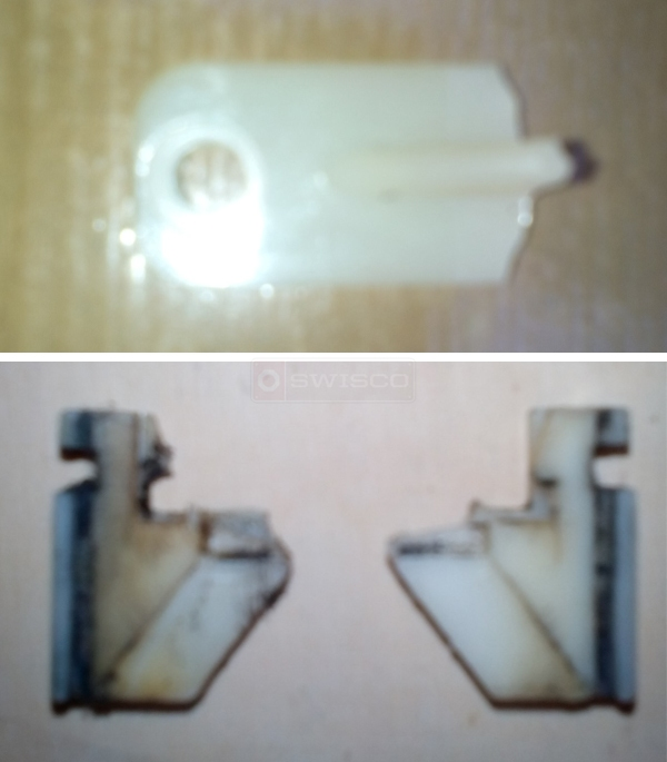 User submitted photos of window balance parts.