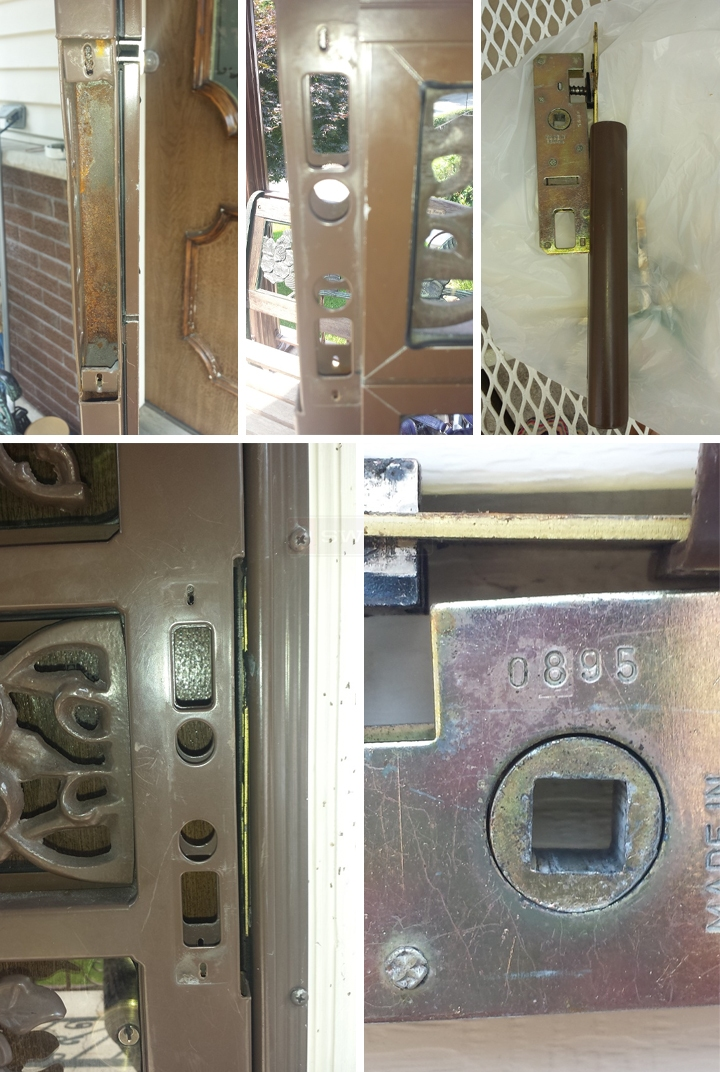 User submitted photos of door hardware.