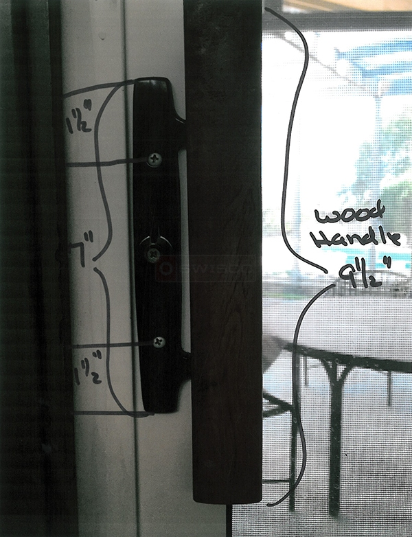 User submitted a photo of a patio door handle.