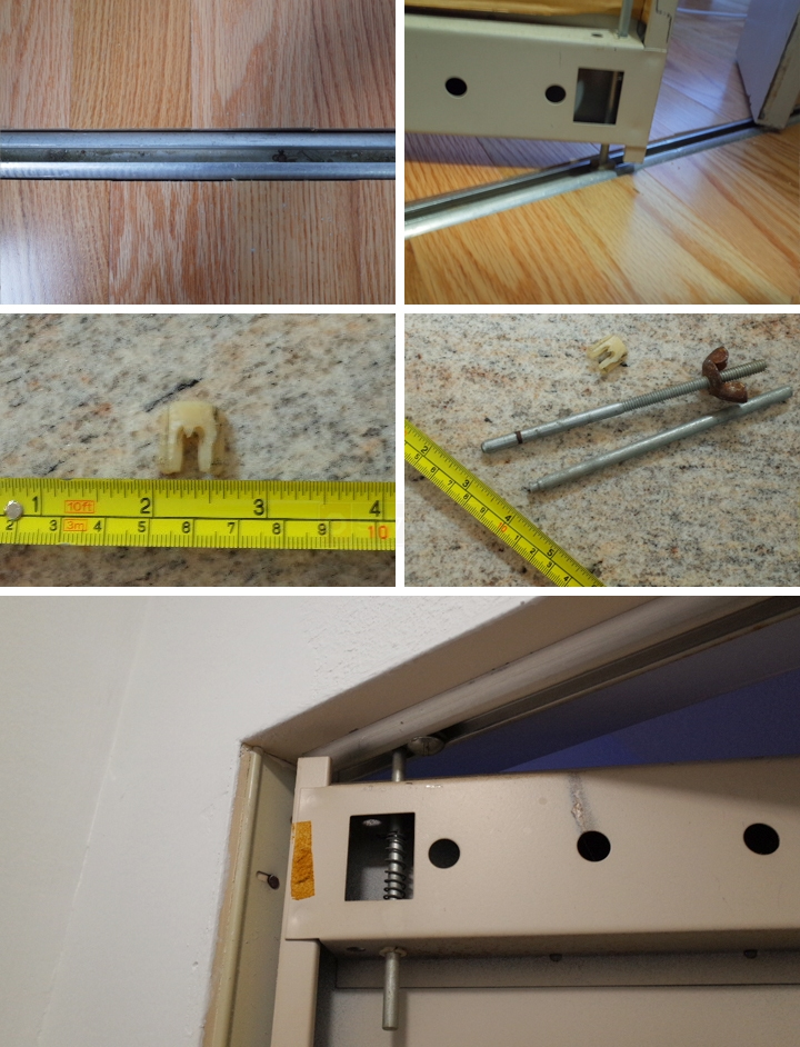 User submitted photos of bi-fold door hardware.