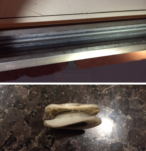 User submitted photos of screen door hardware.