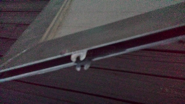 User submitted a photo of screen door hardware.