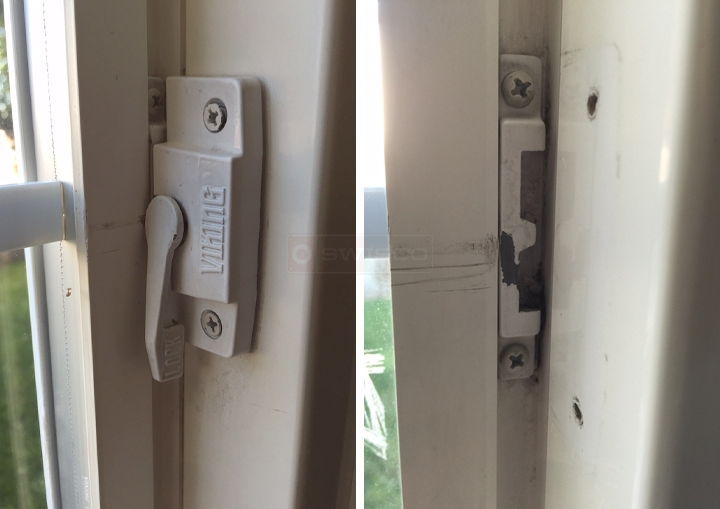 User submitted photos of a window lock & keeper.