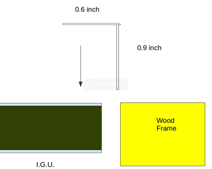 User submitted a diagram of snap-in glazing.