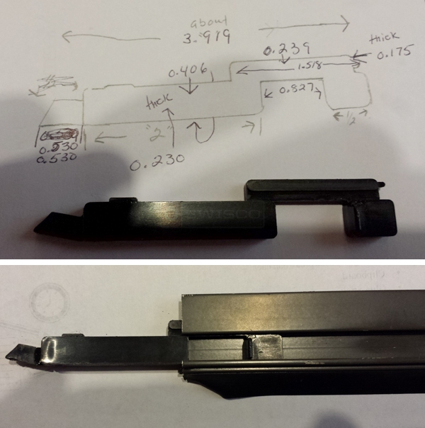 User submitted photos of a screen latch.