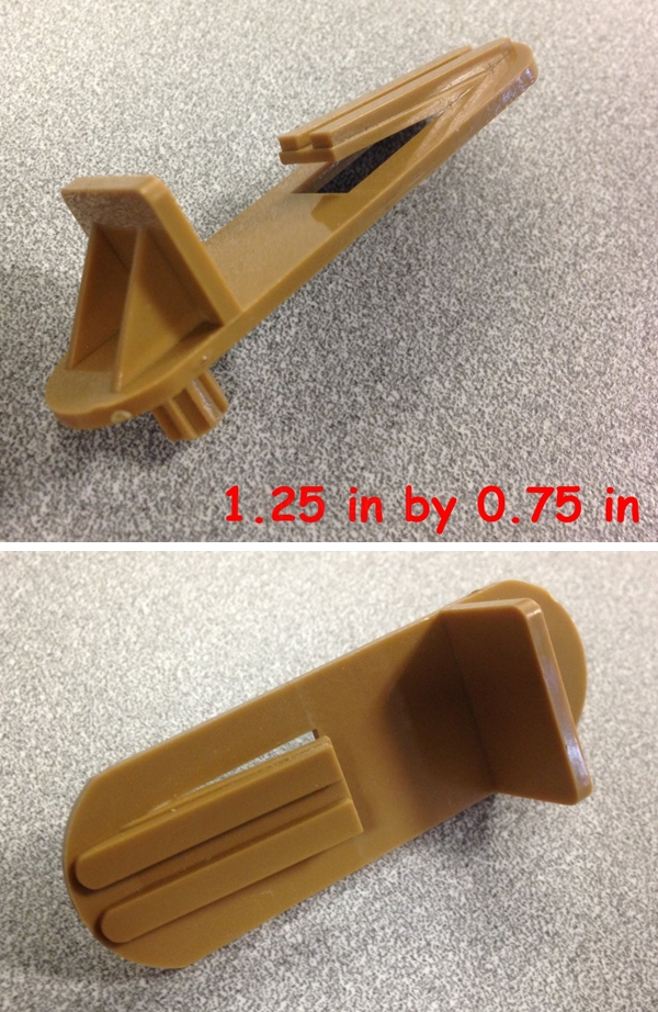 User submitted photos of a shelf bracket.