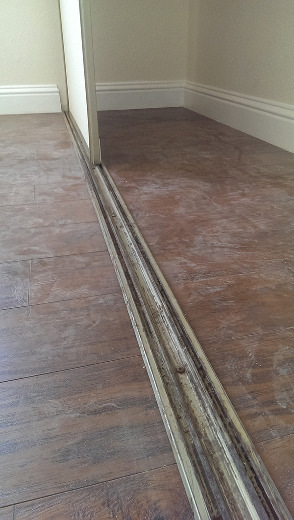 User submitted a photo of a closet door track.