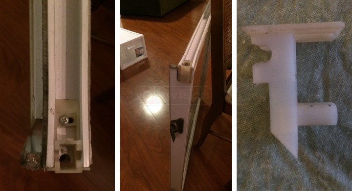 User submitted photos of a top sash guide.