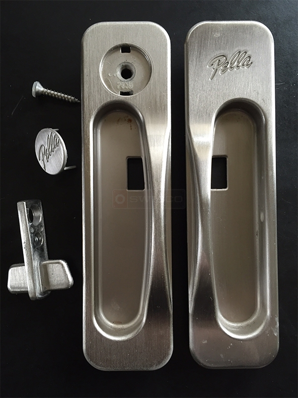User submitted a photo of patio door hardware.