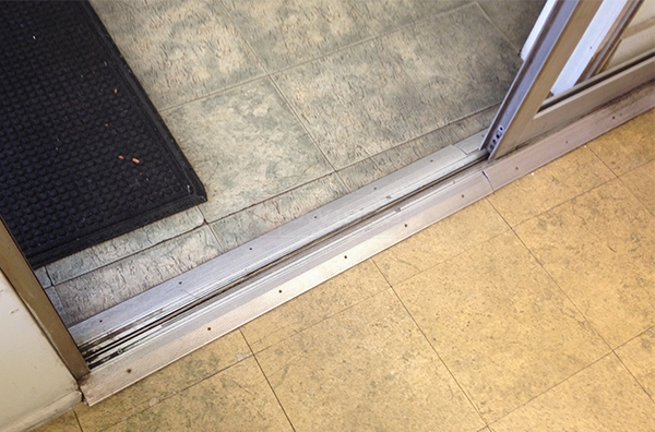 User submitted a photo of patio door track.
