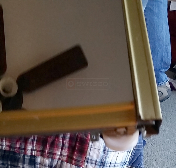 User submitted a photo of a mirror door roller.