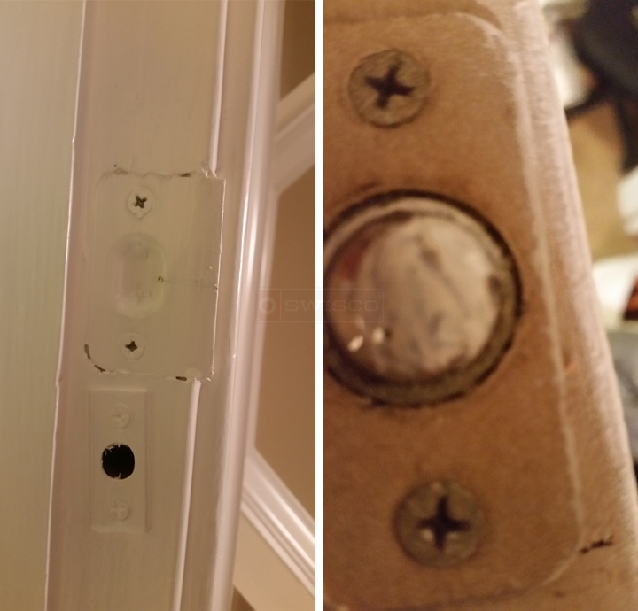 User submitted photos of french door hardware.