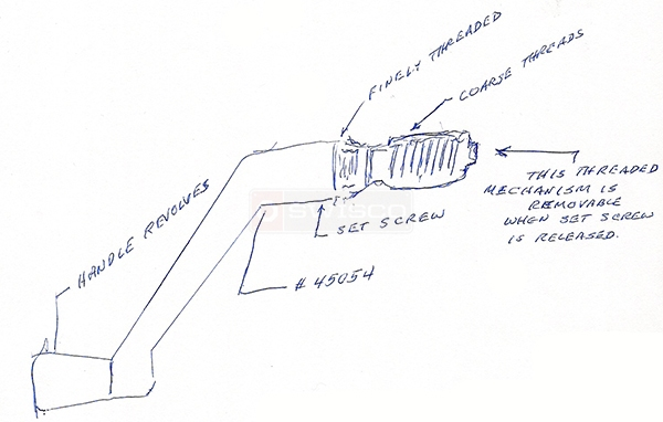 User submitted a diagram of a window operator handle.