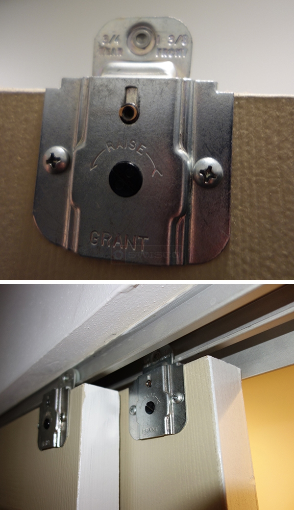 User submitted photos of closet hardware.