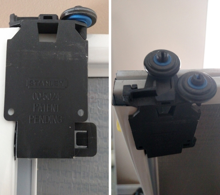 User submitted photos of a mirror closet door roller.