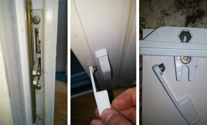 User submitted photos of a window lock.