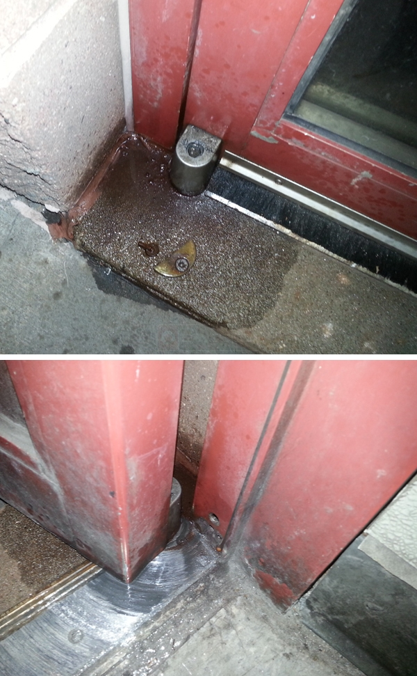 User submitted photos of a commercial door hinge.
