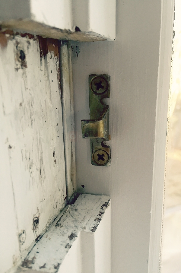 User submitted a photo of a window lock keeper.