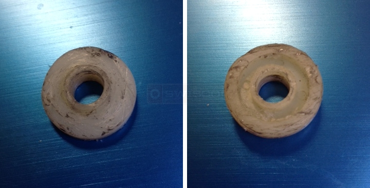 User submitted photos of a drawer roller.