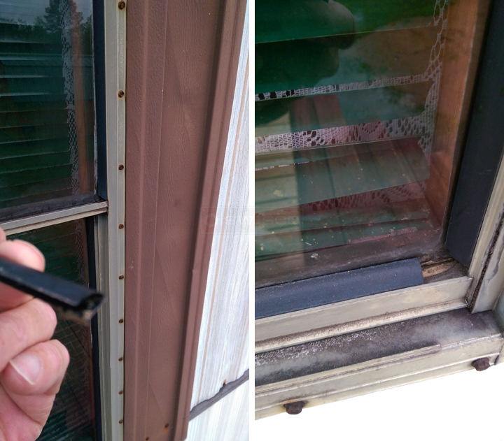 User submitted photos of snap-in glazing.