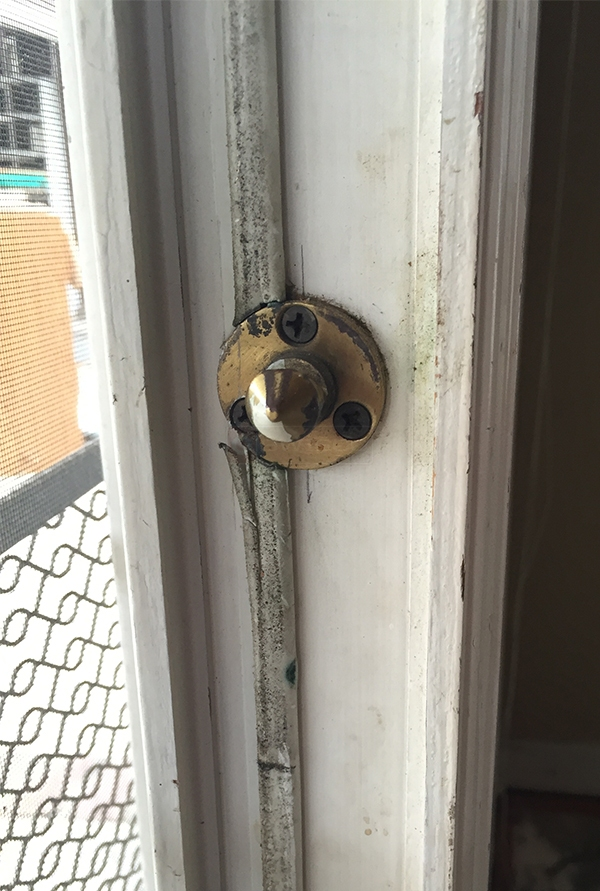 User submitted a photo of a patio door lock keeper.