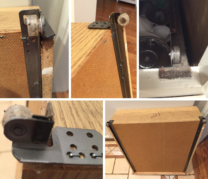User submitted photos of drawer hardware.