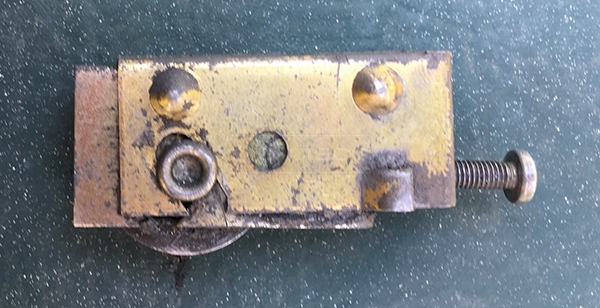 User submitted a photo of a patio door roller.