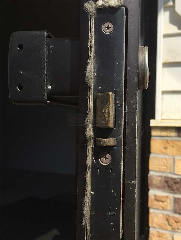 User submitted a photo of commercial door hardware.