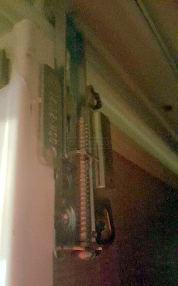 User submitted a photo of closet hardware.
