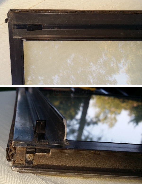 User submitted photos of window hardware.