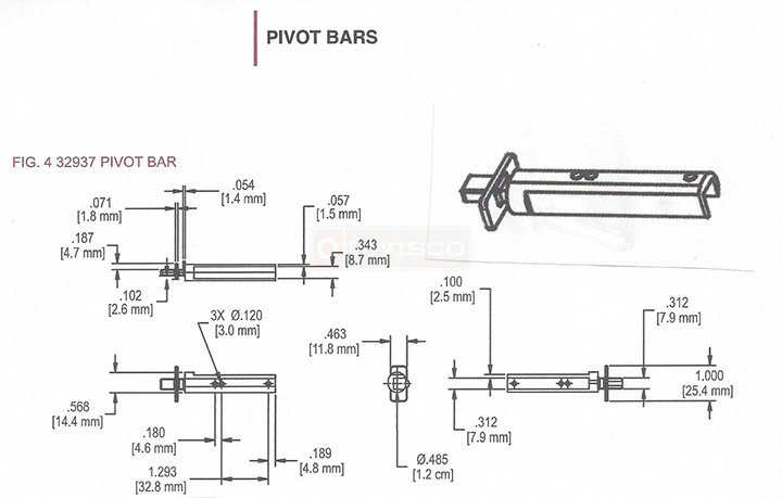 User submitted a diagram of a pivot bar.