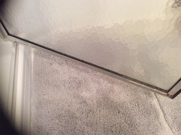 User submitted a photo of shower door hardware.