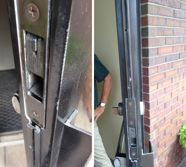 Worn Weather Stripping On Double Doors