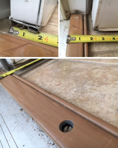 User submitted photos of a door sweep.