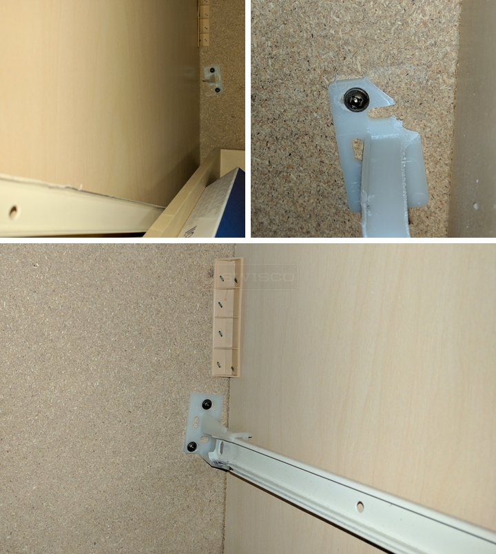 Cardell Cabinetry drawer track bracket : SWISCO.com