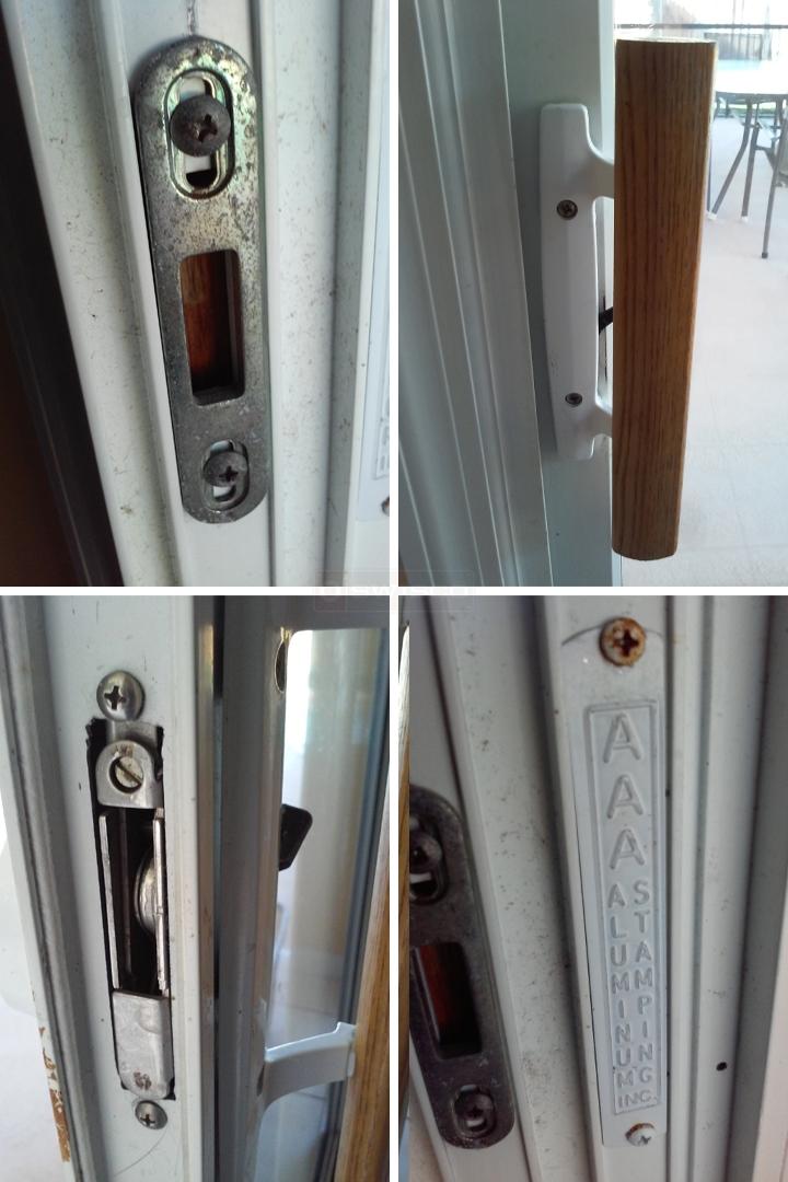 User submitted photos of patio door hardware. & AAA Aluminum Stamping sliding door lock replacement : SWISCO.com