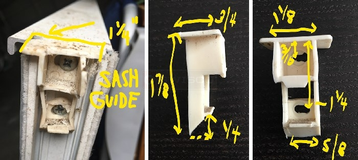 Top sash guide