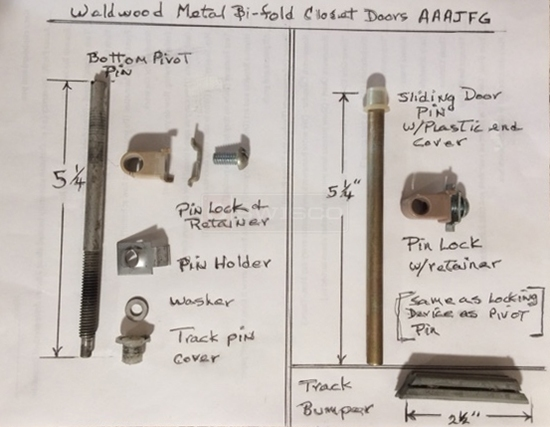 Weldwood Metal Bifold Closet Door Parts For Model Number