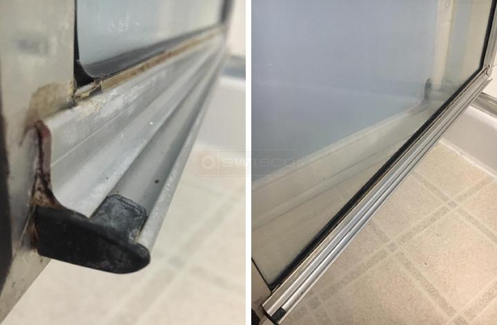 Framed Shower Door Gutter And Sweep Swisco Com