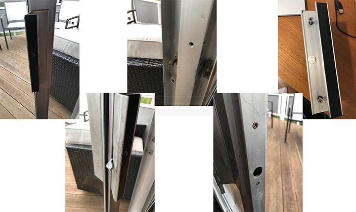 Arcadia Door Handle Sliding Glass, Arcadia Patio Door Parts