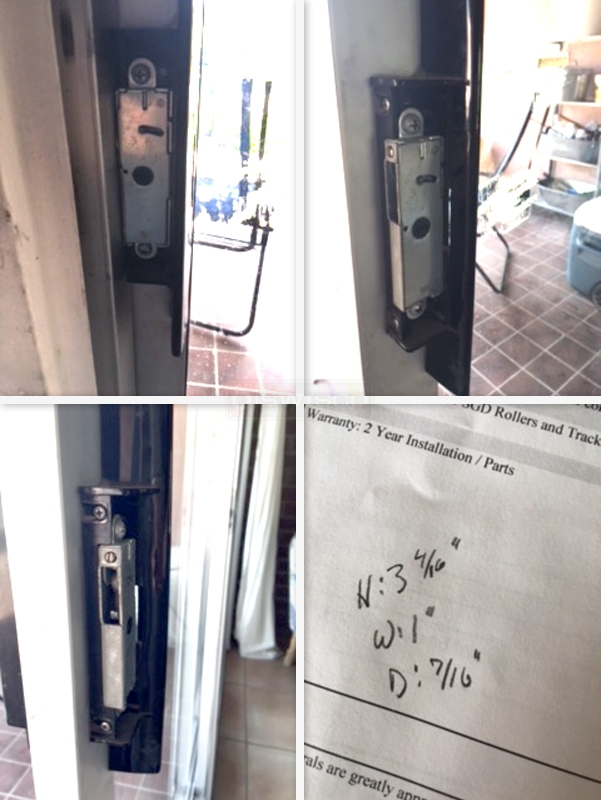 Arcadia Sliding Glass Door Handle With, Arcadia Patio Door Parts